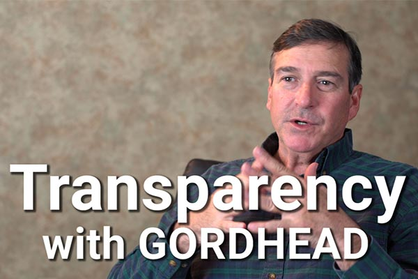Transparency with Gordhead